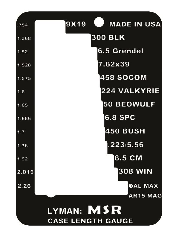 LYMAN CASE TRIM GAUGE MSR