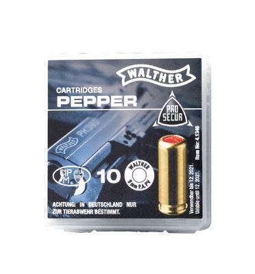 10 Pfefferpatronen 9mm P.A. PV